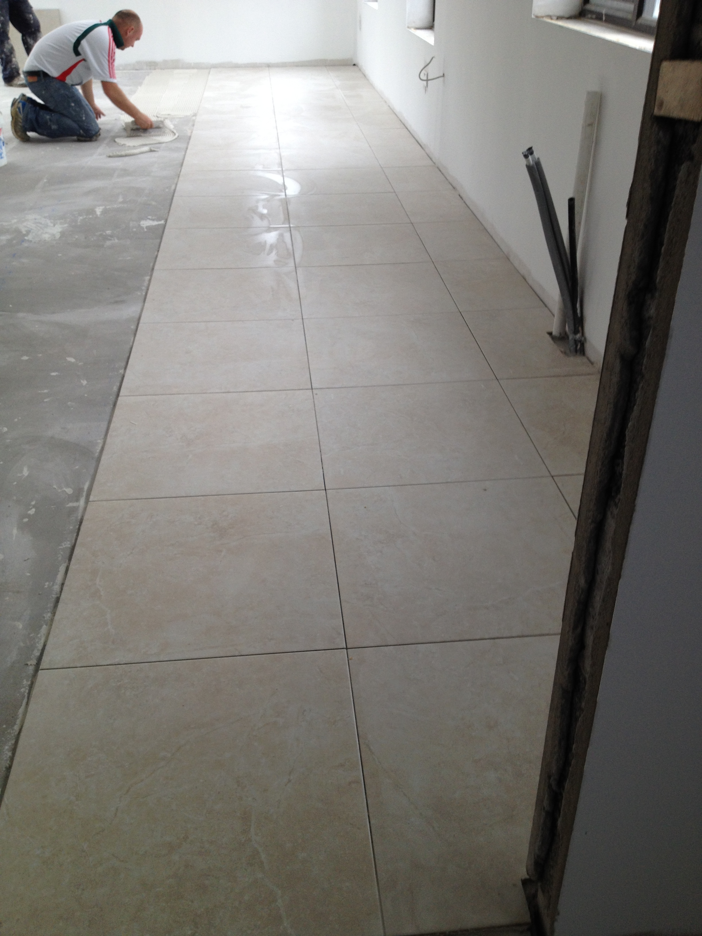 Tiling gallagher 39 s house for Gallagher flooring